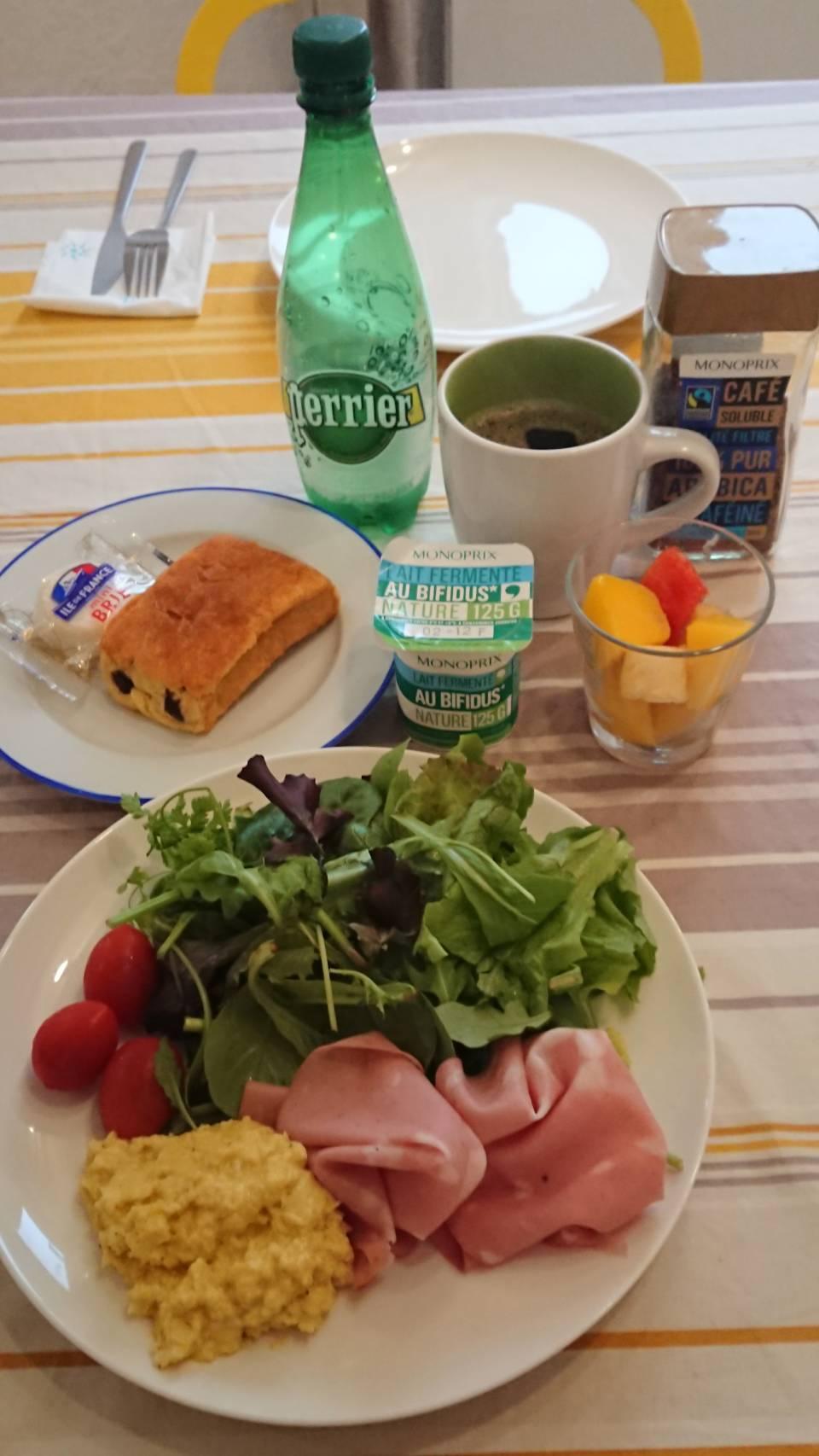 2日目の自炊朝食